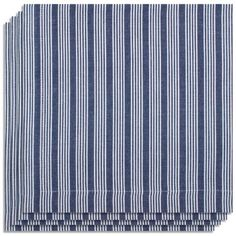 Kaf Home Stripe Napkin, Navy, Set of 4 by KAF Home. $15.30. Easy care; machine wash with like colors and tumble dry. 100% Cotton. Made of 100-percent cotton; mitered corners. Set of 4 napkins with striped design. Striped design; great for mixing and matching with other colors and styles. Each napkin measures 20 by 20-inch unfolded. The Stripe Napkin, by KAF Home, has a fine texture that's softer on the hand. All around mitered edges makes the napkin even more durable. The classic...