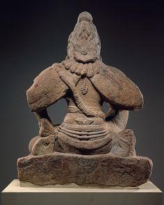 Image back view of over life-sized Garuda (Vishnu's Mount) showing wings… Indian Art, Art History, Buddha, Hippie Man, Lion Sculpture, Wings, Statue, Bird, Pakistan