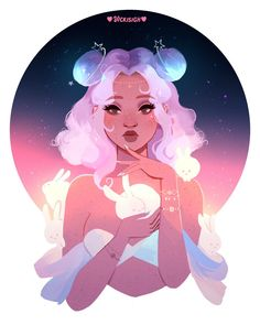 space bunnies Kinda like allura with the mice? Cartoon Kunst, Anime Kunst, Anime Art, Kunst Inspo, Art Inspo, Art And Illustration, Art Illustrations, Character Illustration, Fantasy Kunst