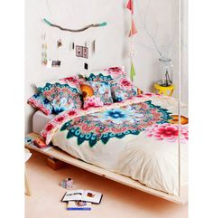 Boho Bedding Desigual Mandala Duvet Cover At Simons Maison Bohemian Bedrooms, Boho Room, Home Bedroom, Bedroom Decor, Bedroom Ideas, Floral Bedroom, Design Bedroom, Teen Bedroom, Master Bedroom