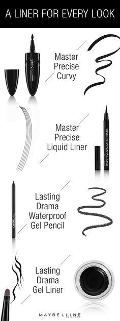 This liner look drugstore product guide serves is what you need this summer. Introducing four top Maybelline eyeliners. Each one will give you precise control to tackle any look and any style you're going for so you can throw shade on anything life puts in your way.