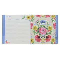 Floral folk reminder book