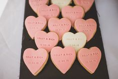 Personalised Heart Biscuit Wedding Favours | Essence of Australia Gown | Pastel Colour Scheme | Ramster Hall | Traditional Wedding | Jacaranda Catering | Ted Baker Bridesmaids | Matt Penberthy Photography | http://www.rockmywedding.co.uk/kelly-rich/