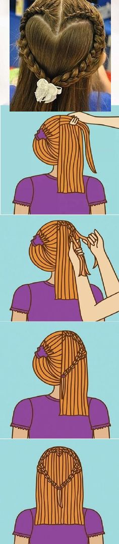 heart hairstyle More