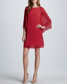 Vestido de Alice + Olivia color cherry,
