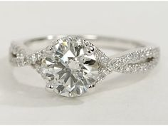 Twist Engagement Ring in 14k White Gold...gorgeousss
