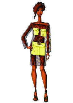 Look 1 - Inspirado pelos chemises estilo Safári, essa peça é bastante ousada pela transparência e bolso deslocado. A proposta é mostrar uma mulher bastante sensual, segura e confiante.