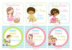 Happy Easter Kids Easter gift tags   by TheLovelyMemories on Etsy, $5.00