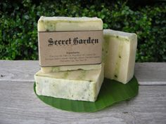 Natural Bamboo Grass soap by CIAOCIAOatChiangmai on Etsy, ฿120.00