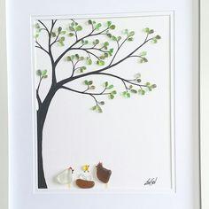 """Chicky"" custom made to order. #seaglassartist #seaglassart #chickens #babychick #custommadeart #personalpresents #babyshowergift…"