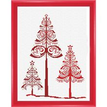 Christmas Trees Counted Cross-Stitch Chart - Herrschners