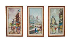 3 Mid-Century Modern Impressionist Oil by ObjectInspirationArt