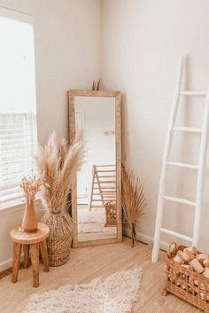 Boho Bedroom Decor, Boho Room, Room Ideas Bedroom, Home Bedroom, 50s Bedroom, Boho Decor, Neutral Bedroom Decor, Decor Room, Room Decorations