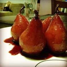 Cinnamon Orange Red Wine Poached Pear