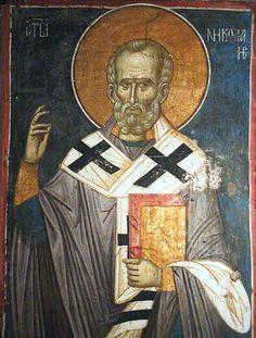 View album on Yandex. Fresco, Saint Nicholas, Religious Icons, Orthodox Icons, Byzantine, Views Album, Saints, Projects To Try, Statue