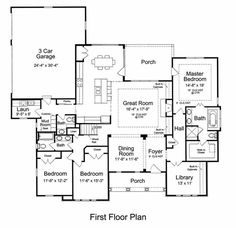Craftsman Style House Plan - 3 Beds 2.5 Baths 2479 Sq/Ft Plan #46-527 Floor Plan - Main Floor Plan - Houseplans.com