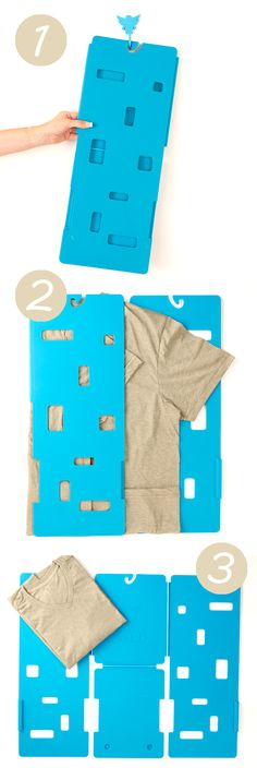 Miracle T-Shirt Laundry Folder // Genius! #product_design.... I need this in my life