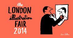 The London Illustration Fair 2014 illo by Jean Jullien