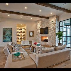 steinwand wohnzimmer modern steinwand wohnzimmer on pinterest ...