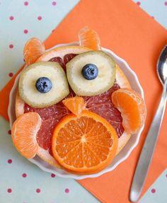 OWL fruit salad - DIY Animal Snacks for Kids