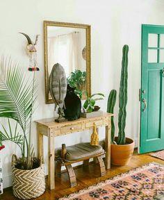 boho living room entry
