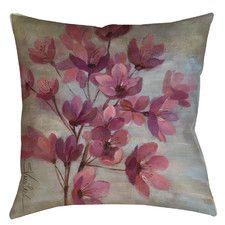 April Blooms II Printed Throw Pillow