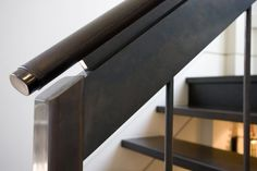 Leather wrapped handrail.    Credit: Seattle Stair & Design