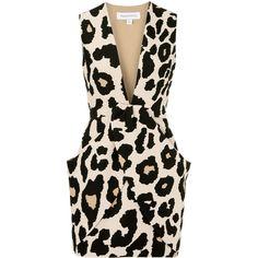 Finders Keepers Leopard print neoprene mini dress (15.855 RUB) ❤ liked on Polyvore featuring dresses, vestidos, robes, short dresses, leopard, leopard mini dress, pink dress, mini dress, fitted dresses and leopard print dress