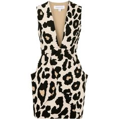 Finders Keepers Leopard print neoprene mini dress ($225) ❤ liked on Polyvore featuring dresses, vestidos, robes, short dresses, leopard, layered dress, high-low dresses, leopard mini dress, stretch mini dress and pink dress