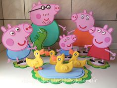 Birthday Party Decorations, 1st Birthday Parties, 2nd Birthday, Pig Pics, Cumple Peppa Pig, Peppa Pig Birthday Cake, Pig Party, Toy Craft, Peper Pig