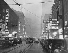 "Pittsburgh by day.""600 block of Liberty Avenue"" 1940. Univ of Pittsburgh archives"
