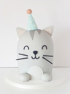 Cute Cat Birthday Cake Cute Cat Cake Without Tail Custom Sprinkles For A Birthday. Cute Cat Birthday Cake Soooooo Cute Cat Cake Cat Cake Catcake Birthday Ideas In Fondant Cakes, Fondant Figures, Cupcake Cakes, Dog Cakes, Kitty Party, Peace Of Cake, Bolo Original, Cake Designs For Kids, Birthday Cake For Cat