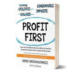 """Doar până la data de 24 iulie inclusiv mai poți profita de reducerea de 30% la cartea """"Profit First"""" de Mike Michalowicz, dar și la cinci dintre cele mai bine-vândute titluri de antreprenoriat ale editurii noastre, precum și de -20% la noua apariție """"Simplifică"""" de Richard Koch. Fani, Personal Care, Self Care, Personal Hygiene"""