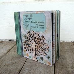 While I couldn't find this beautiful book, this is a phenomenal site for mixed media inspiration. Tons of journal & gift ideas!