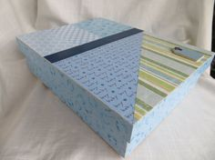 Baby Boy Memory or Keepsake Box. Dots Hand and by MyMemoryBoxes, $50.00