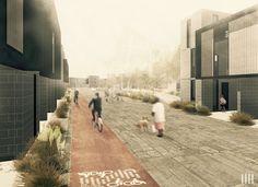 Galería de Primer Lugar Profesional en nuevo plan maestro urbano habitacional en Alto Hospicio - 4