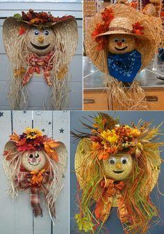 Easy Fall Wreaths, Diy Fall Wreath, Thanksgiving Wreaths, Wreath Crafts, How To Make Wreaths, Wreath Ideas, Holiday Wreaths, Fall Halloween, Halloween Crafts