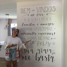 Typography, Lettering, Mural Art, Chalkboard, Bar, Home Decor, Interior, Instagram, Living Room Apartment