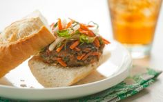 Banh Mi Grass-fed Beef Burger // YUM! #recipe #summer #beef #burger #grill