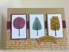 From a recent workshop using Totally Trees stamp set from the new Autumn-Winter catalogue - created by Julia Jordan