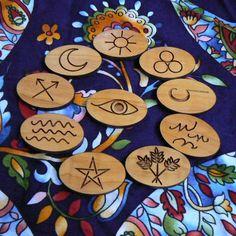 Magickal Ritual Sacred Tools:  Gypsy Runes, by AlaskaLaserMaid.