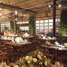 love the mix of rustic, industrial, and GREEN