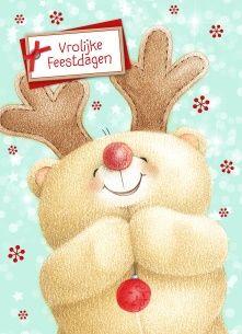 Kerstkaart - forever-friends-beer-als-hert