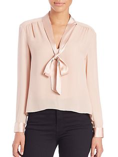 ALICE + OLIVIA Irma Silk Bow Top. #alice+olivia #cloth #top