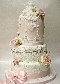 Vintage lace Birdcage wedding cake Bristol, Pretty Amazing Cakes, wedding and celebration cake design