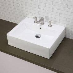 DECOLAV Vessel Sink in White-1417-8-CWH - The Home Depot