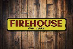 Firehouse Established Date Sign Personalized by LiztonSignShop