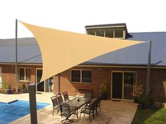 Talitare Heavy Duty Sun Shade Sail Triangle 12 X 12 X 12 Ft Uv Block Canopy Shelter For Outdoor Patio Garden Backyard Deck Sand Color 5 Years Deck Shade, Pool Shade, Patio Sun Shades, Outdoor Sun Shade, Triangle Shade Sail, Sun Sail Shade, Shade Sails, Coolaroo Shade Sail, New Patio Ideas
