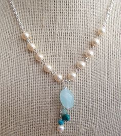 Pearl Chain and Bead Soup Necklace by RiversEdgeCreations on Etsy