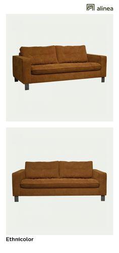 alinea : ethnicolor canapé 3 places convertible en tissu camel canapés tous les canapés canapés droits - #Alinea #Décoration #Canapé #Vert - inspiration meubles et déco